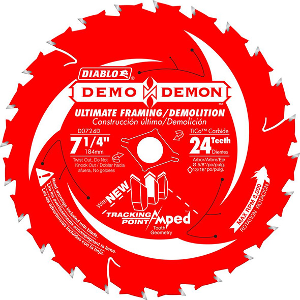 Diablo Demo Demon Tracking Point Amped Saw Blade