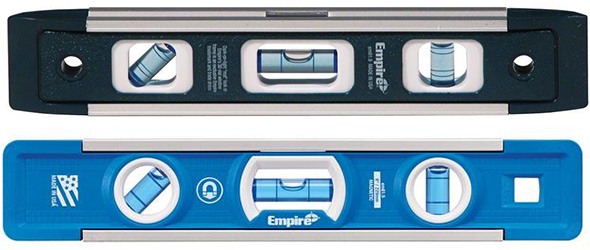 Empire 9-inch Torpedo Level Old and New Styling