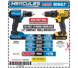 Harbor Freight Hercules Cordless Tool vs Dewalt