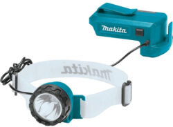 New Makita 18V LED Headlamp with Belt Clip Battery Adapter