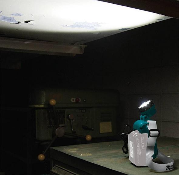 Makita DML800 18V LED Headlamp Standing Upright