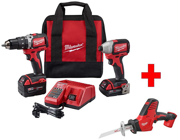 Milwaukee 2799-22CXP M18 Tool Combo Kit