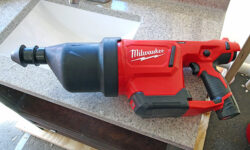 'Milwaukee M12 AirSnake Blows Away Clogs' from the web at 'http://toolguyd.com/blog/wp-content/uploads/2017/07/Milwaukee-M12-AirSnake-Drain-Cleaning-Air-Gun-250x150.jpg'