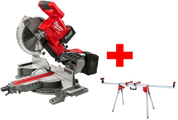 Milwaukee M18 Fuel 10-inch Miter Saw with Compact Miter Saw Stand Bundle