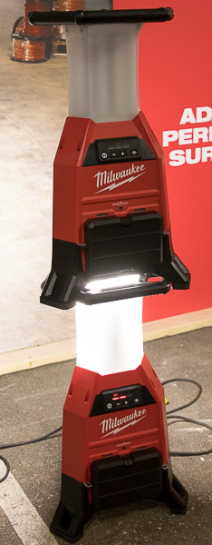 Milwaukee M18 Radius Site Light Stacked