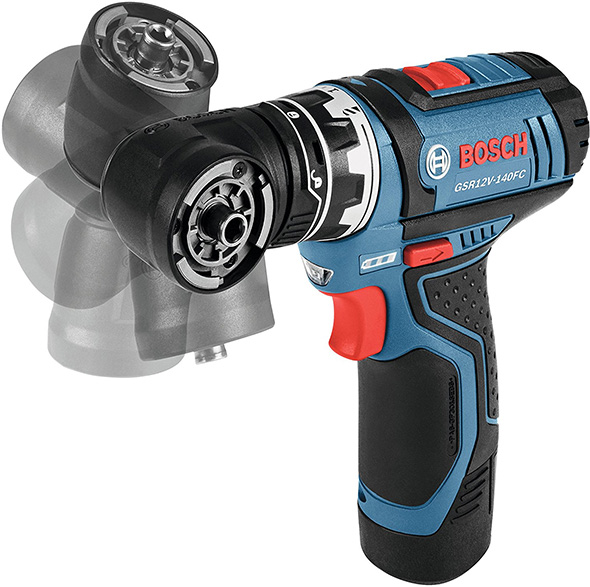 Bosch 12V FlexiClick Drill Driver Kit Modular Tool Head Angles