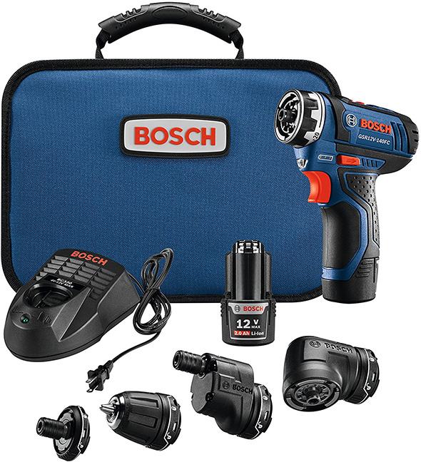 Bosch 12V FlexiClick Drill Driver Kit with Modular Tool Heads