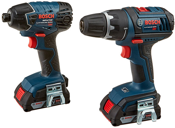deal of the day bosch 18v drill and impact driver combo. Black Bedroom Furniture Sets. Home Design Ideas