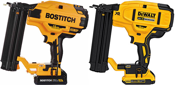 Bostitch vs Dewalt Brushless Brad Nailer
