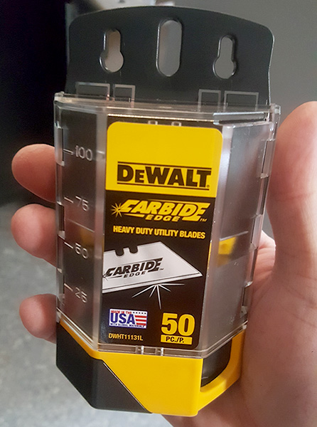 Dewalt Carbide Utility Knife Blades Dispenser and Disposal