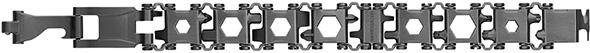Leatherman Tread LT Multi-Tool Bracelet in Black Opened Up