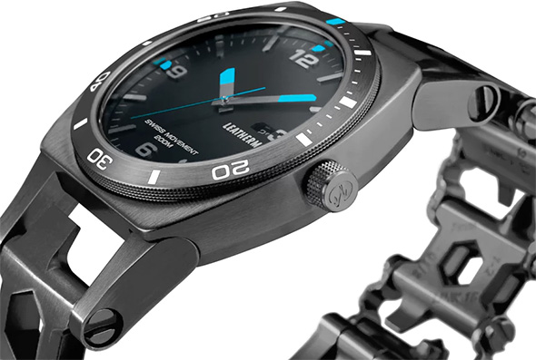 Leatherman Tread Tempo Multi-Tool Watch in Black Side View