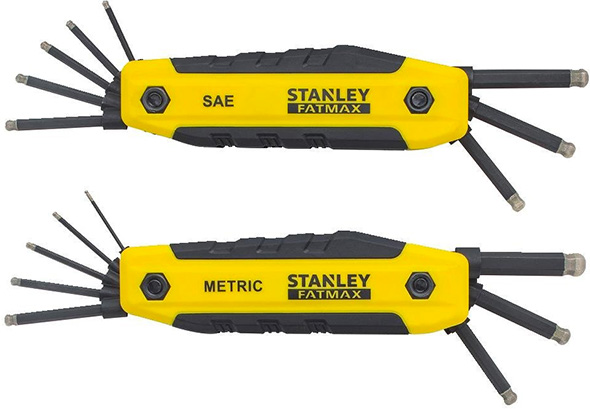 Stanley FatMax Folding Diamond-Coated Ball Hex Key Sets