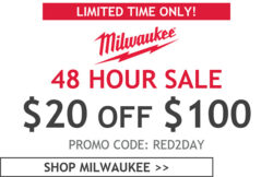 Acme Tools Milwaukee 2-Day $20 off $100+ Sale