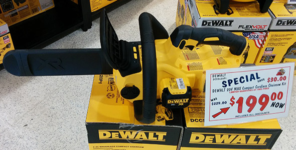 Dewalt 20V Max chainsaw in Acme Tools