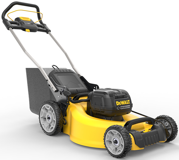 Dewalt 2x 20V Max Brushless Mower side shot