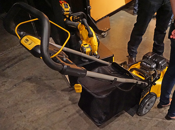 Dewalt 2x 20V Max Brushless Mower view from the back