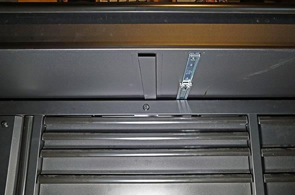Husky Mobile Workbench large drawer third slide