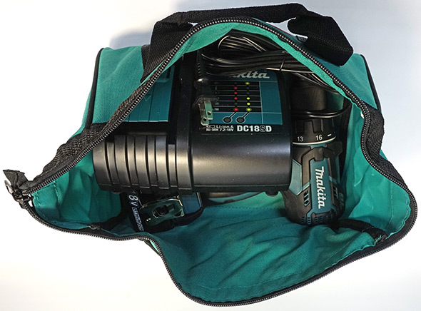 Makita XFD061 Drill Kit in the bag