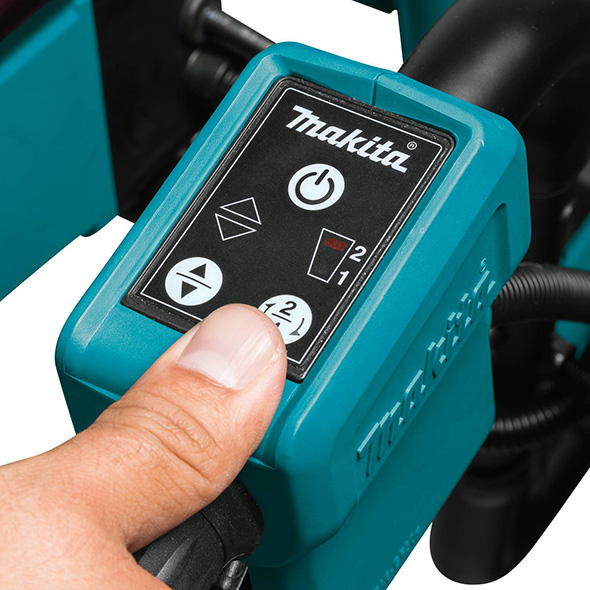 Makita XUC01X2 Brushless Power-Assisted Dolly Power and Controls