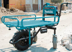New Makita 18V X2 Brushless Power-Assisted Dolly and Wheelbarrow