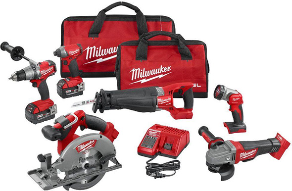 Milwaukee M18 FUEL 6pc Brushless Cordless Power Tool Combo Kit