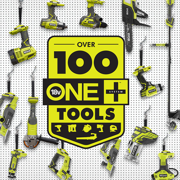 Ryobi 18V Tools Handing up with Lanyard