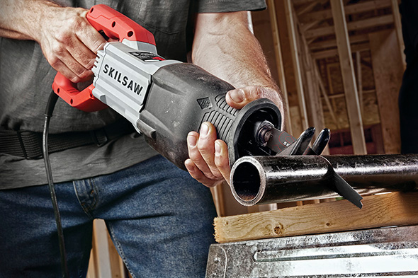 Skilsaw Buzzkill Reciprocating Saw in Action