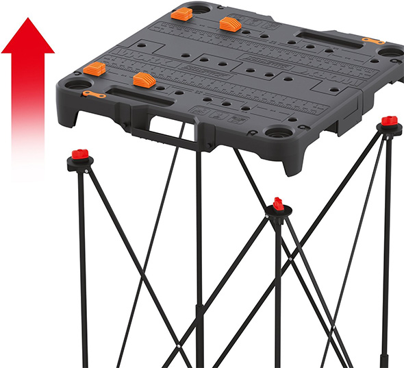 Worx Sidekick Work Table Legs and Top Assembly