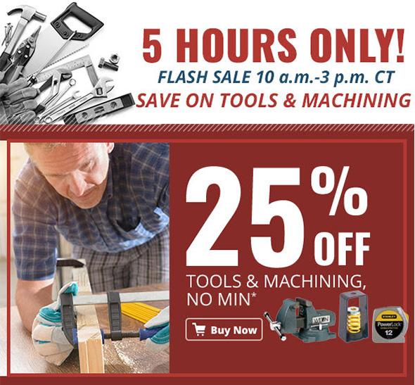Zoro Tools and Machining Flash Sale 9-27-2017