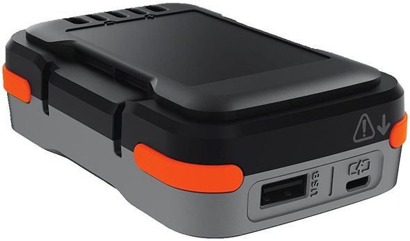 Black and Decker GoPak Battery closeup of ports