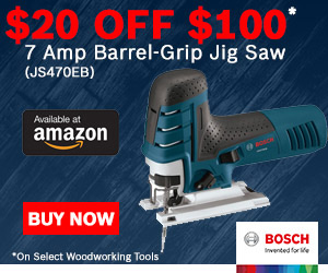 Bosch 20 off 100 Woodworking Amazon Deal October 2017