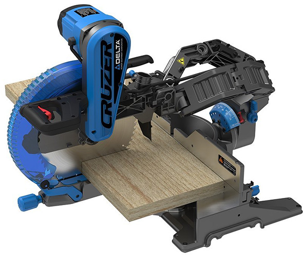 """New Delta Cruzer Sliding Miter Saws with """"ROBOT ARMS"""""""