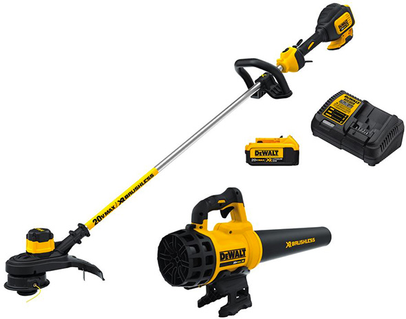 Dewalt 20V Max Trimmer Blower and 4Ah Battery Kit