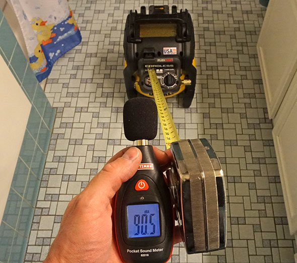 Dewalt Cordless Compressor Sound Pressure Level in My Bathroom