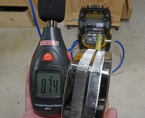 Dewalt Cordless Compressor Sound Pressure Level in My Shop