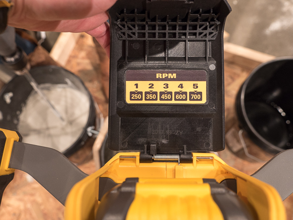 Dewalt FlexVolt 60V Max Dual Handle Paddle Mixer RPM Chart