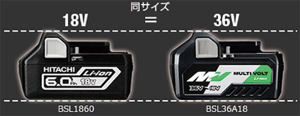 Hitachi MultiVolt 18V and 36V