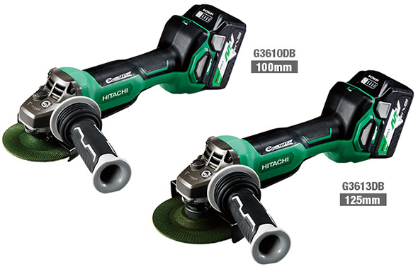 Hitachi MultiVolt Angle Grinders with Brakes
