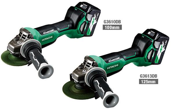 Hitachi MultiVolt Angle Grinders with Brakes