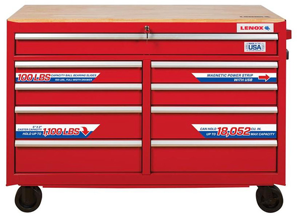 New lenox tool cabinet at lowes for Kitchen cabinets lowes with permit box stickers