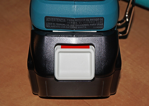 Makita 3Ah battery incorrectly latched