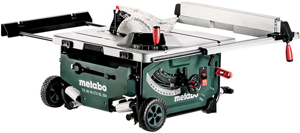 Worlds second ever cordless table saw metabo 18v x 2 with 10 metabo cordless table saw with roller stand collapsed greentooth Image collections