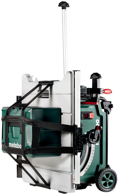 Metabo Cordless Table Saw with Tool Box and Extended Handle