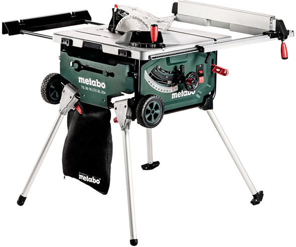 World S Second Ever Cordless Table Saw Metabo 18v X 2