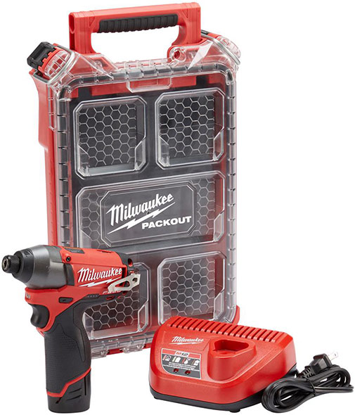 Milwaukee M12 Fuel Impact Driver kit with Packout