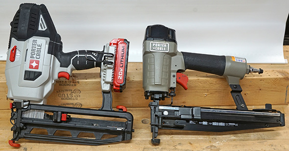 Porter Cable 16 gauge pneumatic and cordless nailguns
