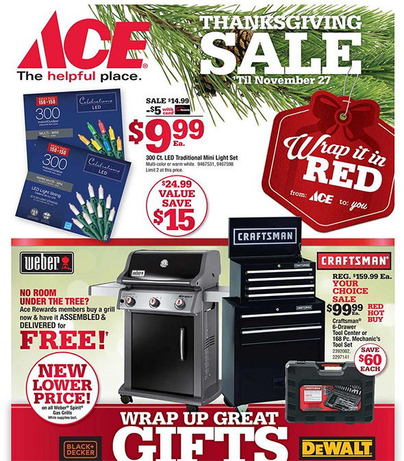 Ace Hardware Black Friday Ad Page 1