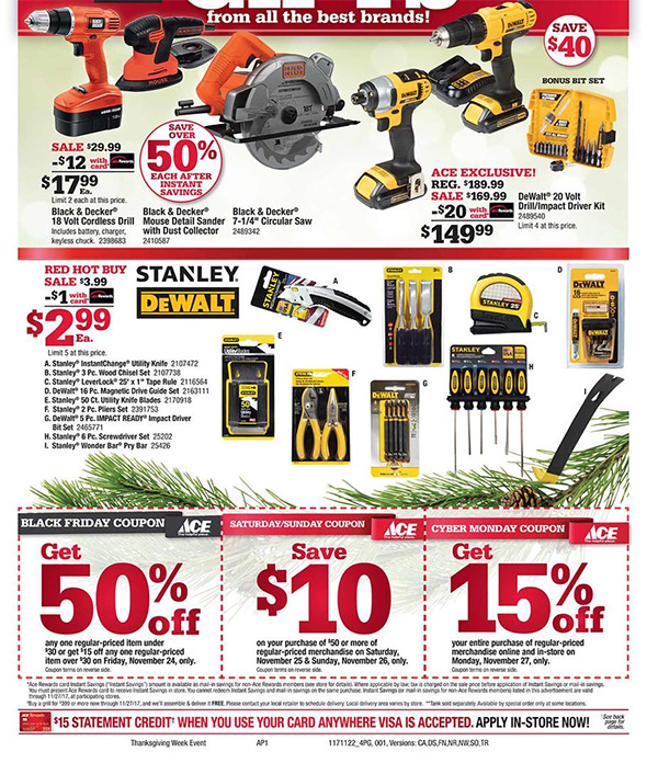 Ace Hardware Black Friday Ad Page 2