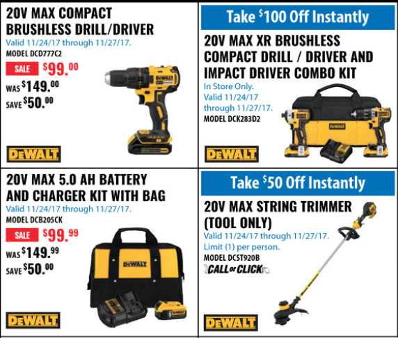 Acme Tools Black Friday 2017 Tool Deals Page 1A